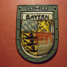 1936-10-17/18 German WHW donation pin. Border countries coat of arms - Bavaria/Bayern - metal back !!! T040.1 (9690)