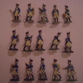 1814 French cavalry , 15x flat 30mm scale. KI (15548)