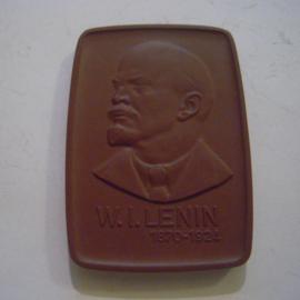 1970 Leipzig , W.I. Lenin. Meissen Porcelain 60x42mm W5294.1 - III (15056)