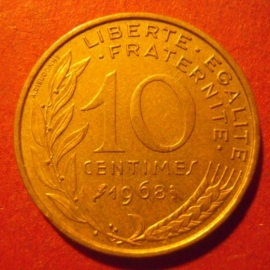 10 Centimes 1968     KM929 (11728)