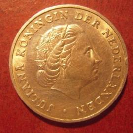 Netherlands Antilles , Juliana , 1 Gulden 1963     KM2 (11492)