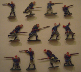 1870 French infantry , 12x Semi-flat 40mm scale (15397)