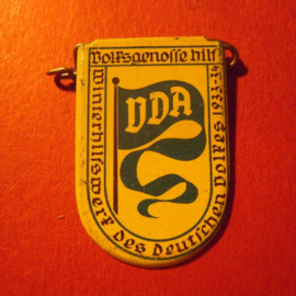 1934-02-23 German VDA donation pin. VDA pennant. Metal  T076 (7112)