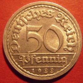 50 Pfennig 1922 F       J301/KM27 (6295)