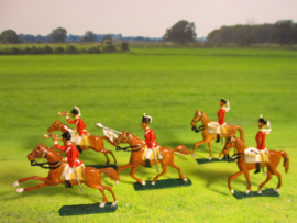 1800's English cavalry , 5x semi-flat 30mm scale recent paint work (16387)