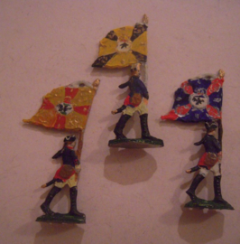 1760 Prussian flag bearers , 3x flat 30mm scale (15688)