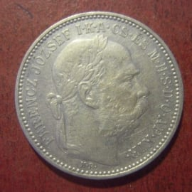 Austro-Hungarian Empire - Franz Jozef I , 1 Korona 1895 KB. Silver !! KM484 (11300)