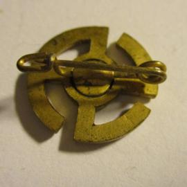Gau Westfalen-Nord 1930´s WHW donation pin. Winter stolstice - Sun wheel. Metal T38-002 (16395)