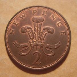 Great Britain - Elizabeth II , 2 Pence 1971     KM916 (12876)