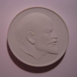 1972/82-87 Berlin , W. I. Lenin - Komitee der antifaschistischen Widerstandskämpfer. Meissen Porzellan 61mm W5086/7090/8024.2 - V (14547)