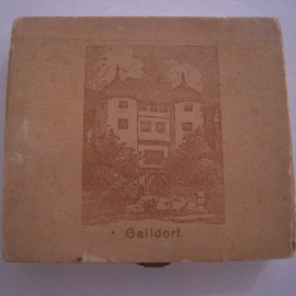 Gaildorf , 10 Mark 1922. Complete set in original box !!! Majolika-Werke Gaildorf 42mm Sch571a+aIII+n - III (16135)