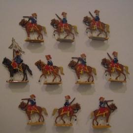 1760 Austrian Hadik (?) hussars , 10x flat 30mm scale. Kieler Zinnfiguren (13759)36.50