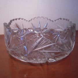 1900 - 1930's German lead cristal bowl , 20x 8,5 cm (15272)