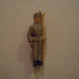 1938-03-5/6 German WHW donation pin. Armed Forces - Mountain ranger. Porcelain 49mm  T127 (14031)