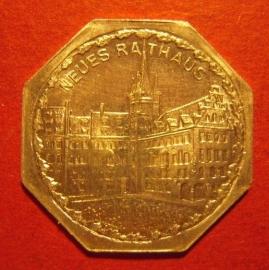 Nürnberg  Strassenbahn , 20 Pfennig No date Al - Neues Rathaus      M19256.25 (5978)