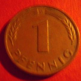 Germany - BRD - 1 Pfennig 1949 D - Bank deutscher Länder.     J376/KM101          (4056)