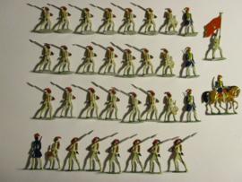 1880 - 1910  Osmanisches Reich ,  ägyptische Infantrie , 34x flach 30mm (16424)