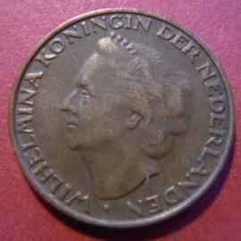 Wilhelmina - 5 Cent 1948. Near Xf !!! Bronze KM176 (7314)