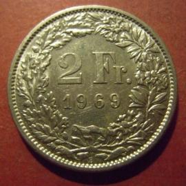2 Franken 1969 B      KM21a (11992)
