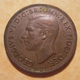 Great Britain - George VI  , ½ Penny 1952     KM868 (12871)