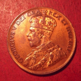 Canada - George V , 1 Cent 1920     KM21 (12538)
