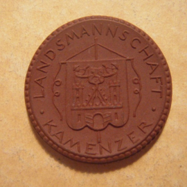 1922 Dresden , Kamenser Landsmannschaft Spende. Max. 500 Stück produziert !!! Meissen Porzellan 27mm Sch717a - VIII (13095)