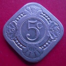 Wilhelmina - 5 Cent 1938. CuNi KM153 (3978)
