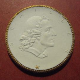 1924 Weimar , Schiller-Erinnerung. Gold Dekor !!! Max. 200 Stück produziert !!! Meissen Porcelain 48mm Sch2282x - R !!!  (11182)