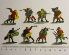 1200 Medieval soldiers, 8x flat 30mm scale. Heinrichsen - Nürnberg (16341)