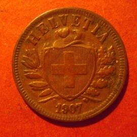 2 Rappen 1907 B      KM4 (11873)
