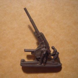 1941-03-22/23 German WHW donation gift. Armed Forces components - Anti-aircraft gun. Trolitul T386 (12800)