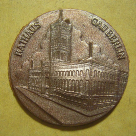 Gau Berlin 1940's WHW donation gift. Berlin buildings series - Rathaus. Synthetic T049 (13336)