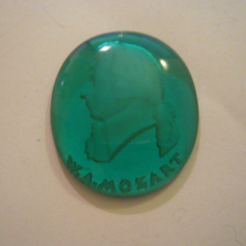 1941-03-1/2 German WHW donation gift. Heads of famous Germans - Wolfgang Amadeus Mozart. Glass T374 (15026)