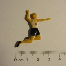 1940 Hitlerjugend , National sports games - Long jump. Symthetic colorfull hand painted 16a (16316)
