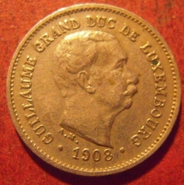 Luxembourg - William IV , 5 Centimes 1908. CuNi KM26 (11395)