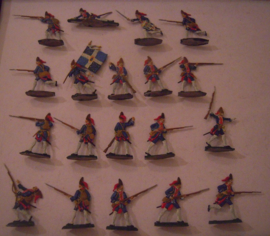 1760 Spanish grenadiers , 19x flat 30mm scale. WH (15542)