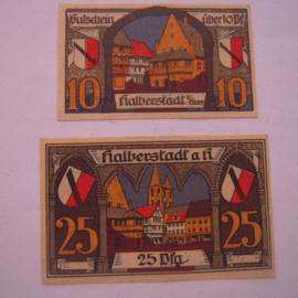 Halberstadt , 10 + 25 Pfennig 1920. GM504.1a (16032)