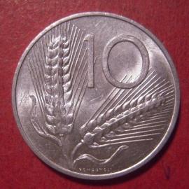 Italian Republic , 10 Lire 1955      KM93 (12558)