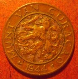 Curaçao , Wilhelmina , 1 Cent 1944 D      KM39 (11521)