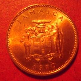 Jamaica , 1 Cent 1970 , original luster !!!       (12629)