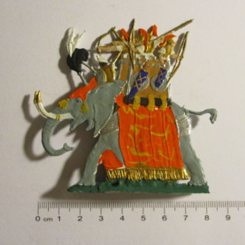 200 BC Soldiers on Carthaginian war elephant 1x flat 30mm scale. Kieler Zinnfiguren (16339)