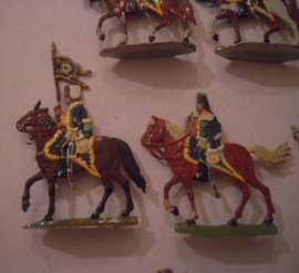 1744 Prussian Wartenberg hussars , 10x flat 30mm scale. Herbu (15634)