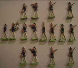 1870 Prussian infantry parade , 16x Semi-flat 40mm scale (15393)