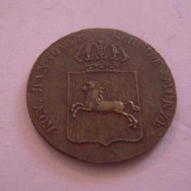 Hannover - Wilhelm IV , 1 Pfennig 1835 B. Cu AKS84/KM166.2 (8803)