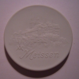 1996 Meissen , Meeting Day 18-5-1996. Meissen Porcelain 51mm W10.496.2 - VII (14545)