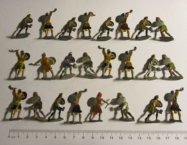 200 BC Ancient warriors , 24x flat 30mm scale. Heinrichsen - Nürnberg (16340)