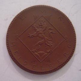 1922 Heidelberg , Weinfest des E.V.K. Meissen Porzellan 42mm Sch1693a - VII (14430)