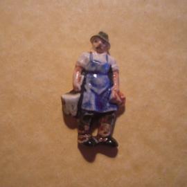 Gau Wien 1940 WHW Spende. Wiener Typen - Wasserer. Porzellan T015 (12856)
