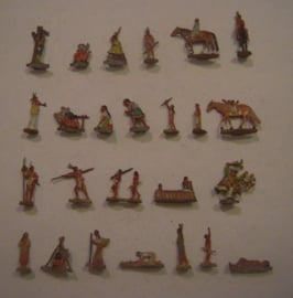 1800's Indian village life , 25x flat 20mm scale (HO).  Fritz Mittmann - Schweidnitz (15434)