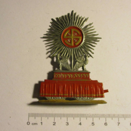 Gau Munich - Upper Bavaria. 1940 German WHW donation gift. Tin figure : Parade on German Art Day 1938 - Sun float. Flat 30mm scale T093 (16398)
